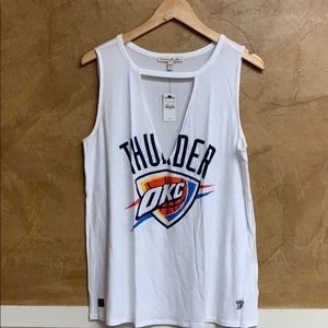NWT Oklahoma City Thunder NBA Cut-Out White Tank